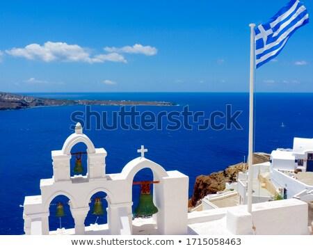 типичный · греческий · Церкви · каменные · Греция · небе - Сток-фото © elxeneize