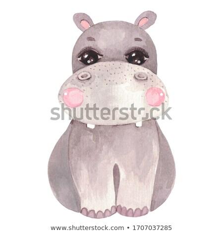 Baby Hippo Toy Stock photo © lutjo1953