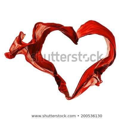 Rood hart satijn doek liefde symbool Stockfoto © photocreo