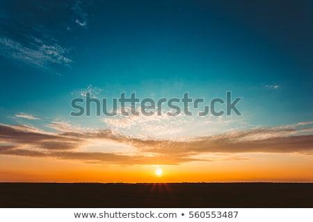 закат горизонте небе пейзаж фон горные Сток-фото © rabel