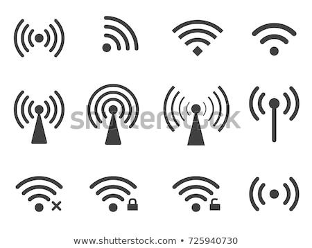 Signaal icon illustratie eps10 vector Stockfoto © unkreatives