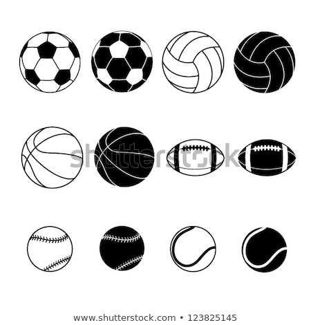 soccer ball football and basketball vector set stock photo © beaubelle