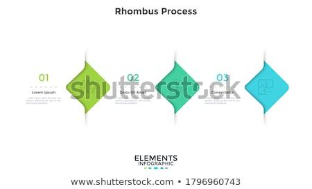 rhombus infographic Stock photo © auimeesri