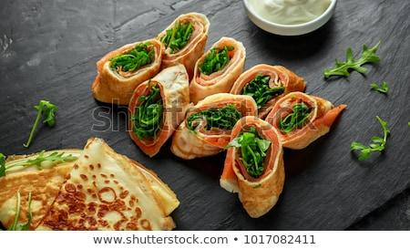 Fromages crêpe bourré radis ciboulette Photo stock © joker