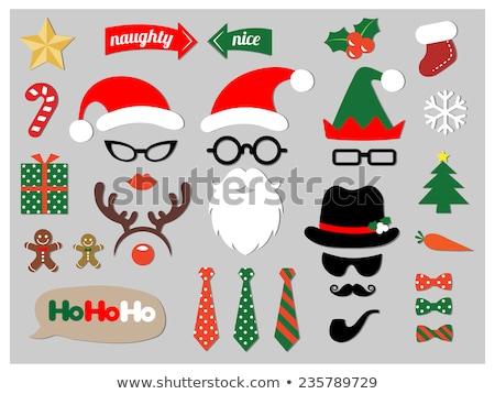 Huncut karácsony fagyöngy férfi retkes néz Stock fotó © lisafx