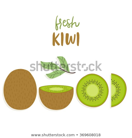 green kiwi slice wallpaper Stock photo © Viva