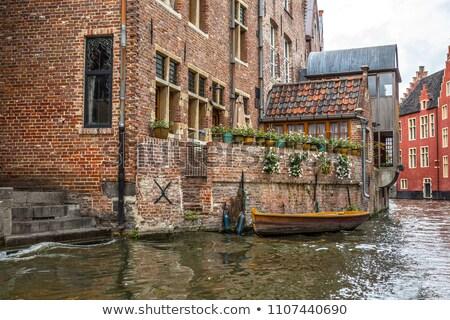 kép · Belgium · esős · szürkület · kék · óra - stock fotó © pixxart