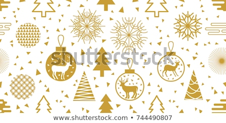 Noel · kar · taneleri · simgeler · vektör · kar · sanat - stok fotoğraf © voysla