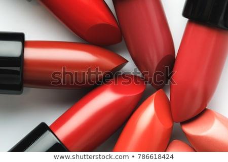 Açmak kırmızı ruj kapak moda kırmızı renk Stok fotoğraf © dezign56