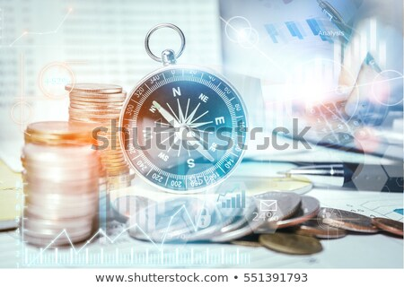 compass on money background Stock photo © rufous