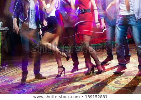Souriant danseur piste de danse jeunes femme fille Photo stock © konradbak