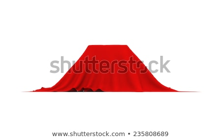 Object of rectangular shape covered with red cloth, on white Stock photo © cherezoff