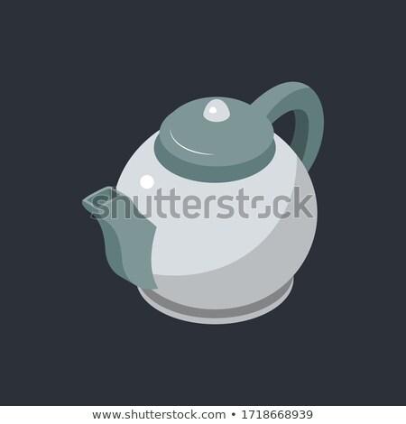 Stylizowany kubek ikona szary kolory kawy Zdjęcia stock © aliaksandra