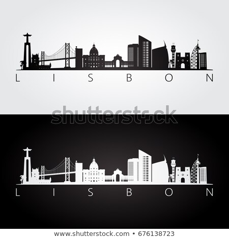 リスボン · 橋 · 夕暮れ · 景観 · 25 · 吊り橋 - ストックフォト © joyr