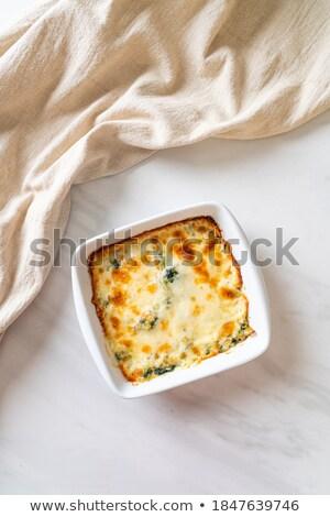 Espinacas lasaña alimentos queso vegetales crema Foto stock © M-studio
