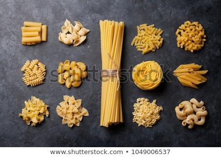 Ruw macaroni Geel geïsoleerd witte achtergrond Stockfoto © Rob_Stark