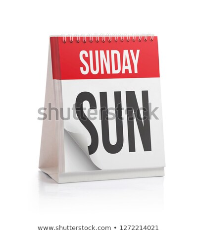 Sunday Calendar Schedule Blank Page Stock photo © stevanovicigor
