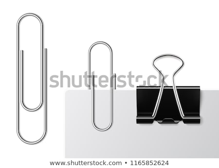Zwarte paperclip vector geïsoleerd witte kantoor Stockfoto © -Baks-