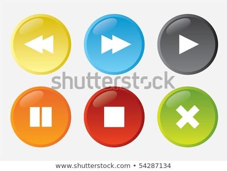 Pause Circular Vector Red Web Icon Button Stock photo © rizwanali3d