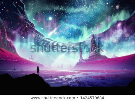 Csillagköd mély űr csillagok bolygók absztrakt Stock fotó © alexaldo