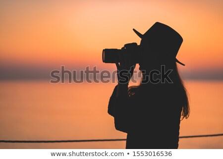 日没 · 実例 · 男 · 自然 · 楽しい · 日の出 - ストックフォト © adrenalina
