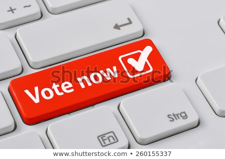 A keyboard with a red button - Vote now Stock photo © Zerbor