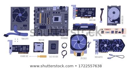 eletrônico · coleção · cpu · tiro · computador - foto stock © nemalo