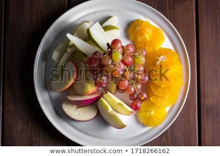 фрукты яблоко банан вишни виноград иллюстрация Сток-фото © silverrose1
