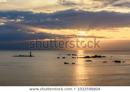 sahil · gece · mor · gökyüzü · gece · gökyüzü · doğa - stok fotoğraf © chris2766