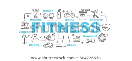 Stock photo: Fitness infographics