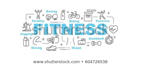 Stock photo: Fitness Infographics