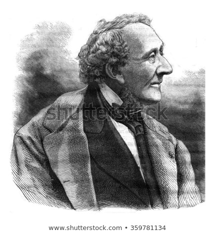 Hans Christian Andersen black and white Stock photo © rmbarricarte