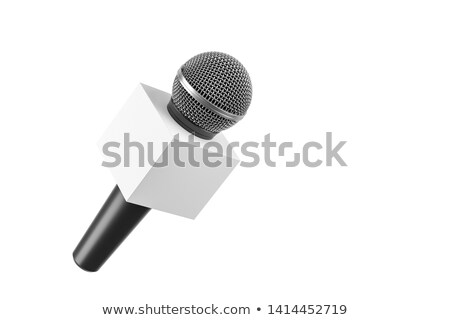 3D · doboz · mikrofon · rendkívüli · hírek · renderelt · kép · szó - stock fotó © iqoncept