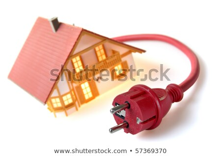 Model house with red plug Stock photo © pixpack
