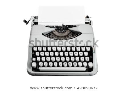 editor · máquina · de · escrever · muitos · papel · criatividade · negócio - foto stock © janpietruszka