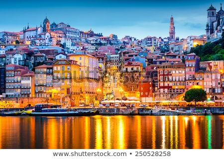 Night scene of Porto, Portugal Stock photo © neirfy