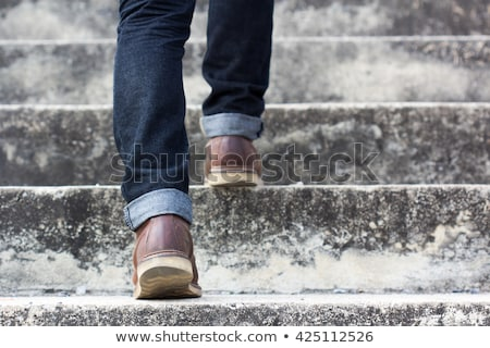 man foot step up stock photo © fuzzbones0