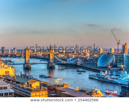 antenne · Londen · City · Night · tijd · stad · nacht - stockfoto © AndreyKr
