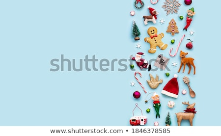 karácsony · cukorka · édesség · keret · háttér · jókedv - stock fotó © OliaNikolina