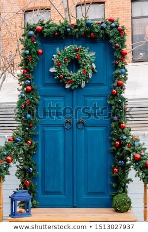 Zdjęcia stock: Latarnia · drzwi · vintage · wejście · budynku · domu