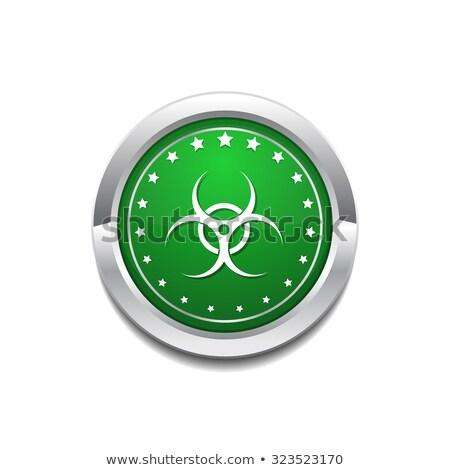 Biohazrd Sign Green Vector Icon Button Stock photo © rizwanali3d