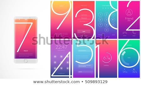 Phone Purple Vector Icon Button Stock photo © rizwanali3d