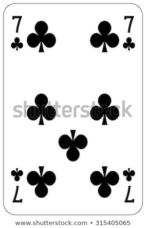 Sete jogar cartão vermelho cartões jogo Foto stock © Bigalbaloo