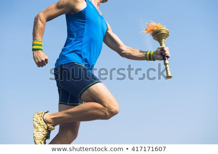 Running Torch Bearer Stock photo © ClipArtMascots