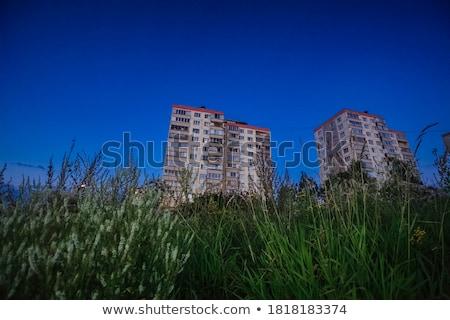 residental building against dark blue sky Stock photo © Paha_L