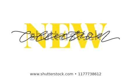 Nuovo arrivo giallo vettore icona design Foto d'archivio © rizwanali3d