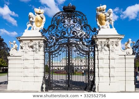Stock fotó: Fő- · kapu · palota · Bécs · Ausztria · kert