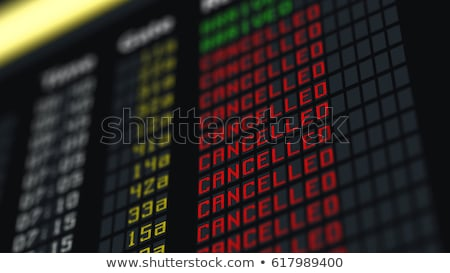 Foto stock: Cancelled Flight In Airport