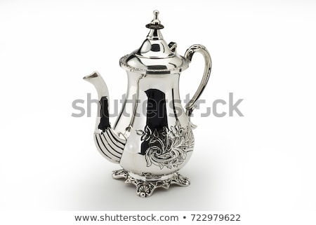 Silver coffee pot Stock photo © magraphics