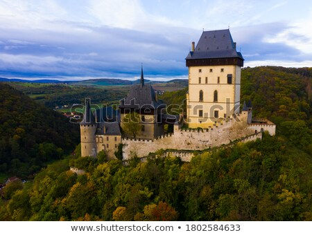 Autumn scenery with Karlstejn Castle Stock photo © CaptureLight